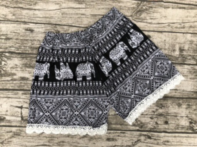 Combo 2 quần đùi lanh nữ