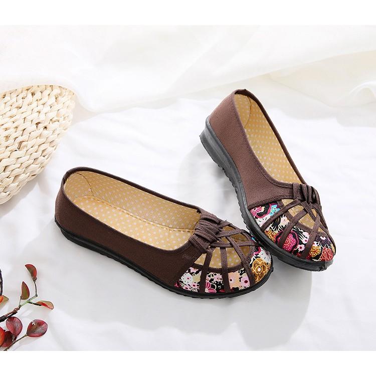 Giày búp bê nữ đế bằng 2cm đi bộ thoáng khi cực êm chân V277