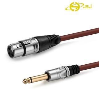 Dây canon (XLR) cái ra đầu 6 ly (6.5mm) đực JSJ 803G dài 1m âm thanh trung thực, chống tạp âm và chống nhiễu