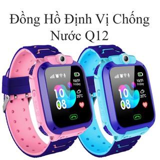 Đồng hồ thông minh định vị Q12 sạc nam châm, chống nước, gắn sim nghe gọi như điện thoại.