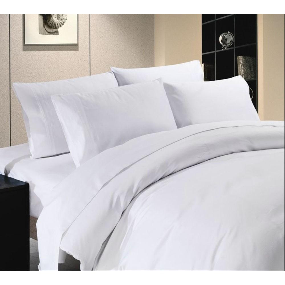 Vỏ chăn Cotton trắng trơn 1m8x2m