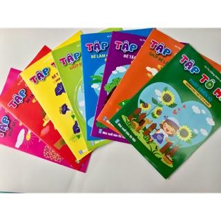 (SALE) Bộ 8 quyển tô màu dành cho bé 5-6 tuổi phát triển trí tuệ