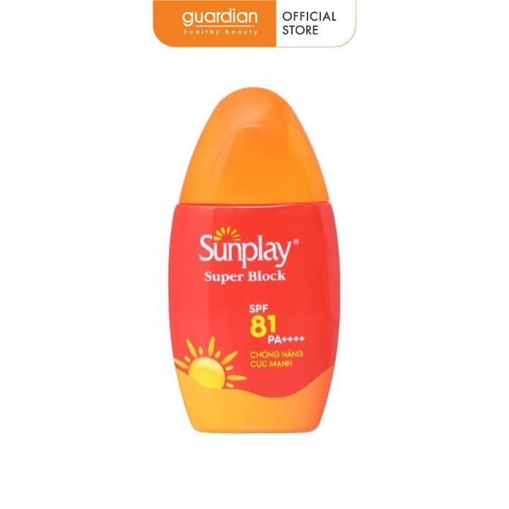 Sữa chống nắng cực mạnh Sunplay Super Block kháng nước tốt SPF 81/PA++++ 30g