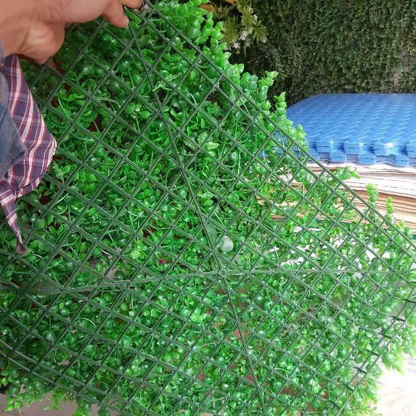 Thảm cỏ tai chuột nhựa pvc trang trí, thảm cỏ nhân tạo treo tường KT40x60cm