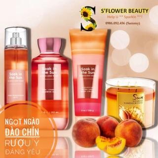🌈 BST SẮC CẦU VỒNG🌈 | 🍑Soak in the Sun | Sản Phẩm Tắm Lotion Xịt Thơm Toàn Thân Bath & Body Works