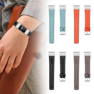 Dây da cao cấp cho đồng hồ thông minh Fitbit Charge 2