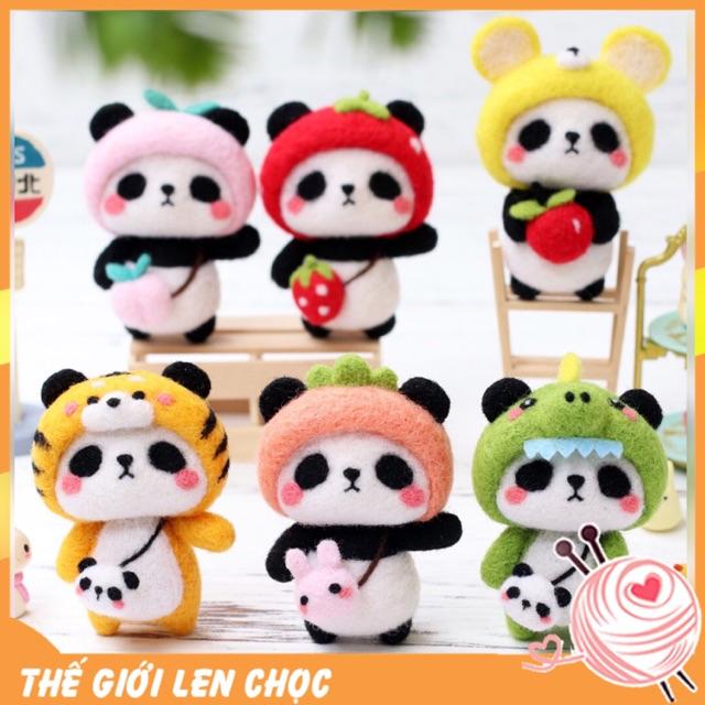 [Có hướng dẫn] Bộ kit len chọc Panda Panda