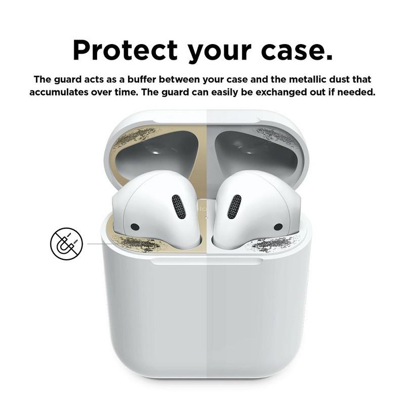 AIRPODS 1 2 3 PRO Miếng Dán Kim Loại Bảo Vệ Hộp sạc Tai Nghe Bluetooth Airpod Chất Lượng Cao Tính Năng Chống Bụi