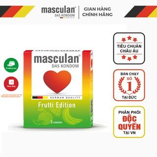 Bao cao su Đức Masculan - Hương hoa quả (Táo, Dâu tây, Hoa quả nhiệt đới) - Frutti Edition - 3 bao thumbnail
