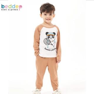 Đồ bộ cho bé trai Beddep Kids Clothes chất nỉ trơn in hình B21