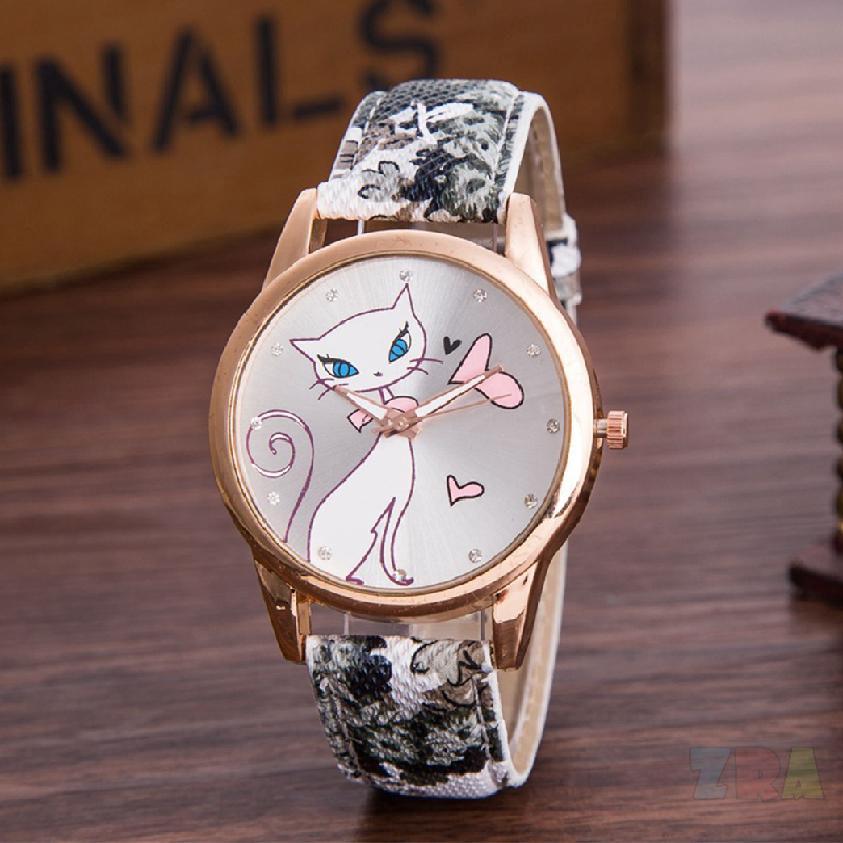 การ์ตูนแมวนาฬิกาเด็กแฟชั่นนาฬิกาแฟชั่นนาฬิกาควอทซ์ 442