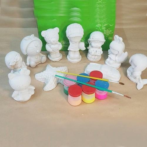 Bộ tô tượng 10 con kèm màu cho bé Loai to