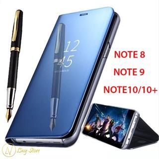 Bao da tráng gương cho Samsung Galaxy Note 8 Note 9 Note 10 Note 10 Plus