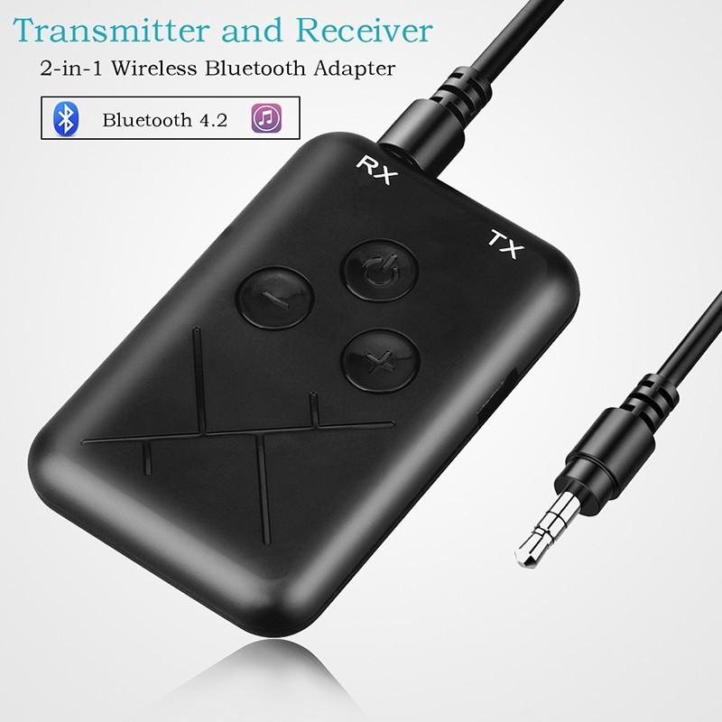 Bộ nhận truyền âm thanh Bluetooth 4.2 3.5mm USB 2 trong 1 kèm phụ kiện chất lượng cao
