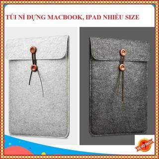 Túi Nỉ Chống Sốc Bảo Vệ Laptop - Macbook Air Pro 11 inch - 16 inch. thumbnail