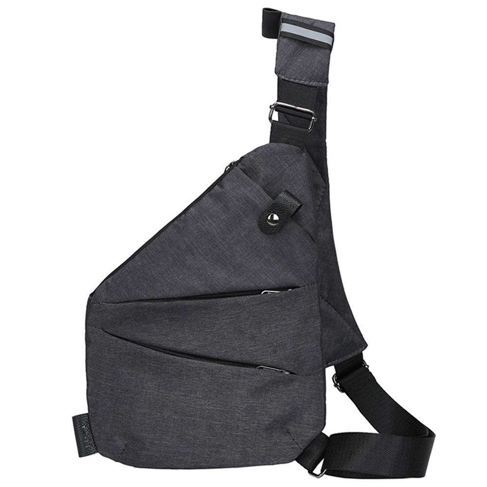 Men Phone Holder Soft Waist Bag Sports Travel Single Shoulder Messenger Chest Pack Canvas Casual