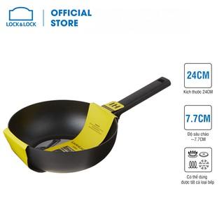 [Mã LIFEHL9 giảm 8% tối đa 100K đơn 250K] Chảo sâu lòng Soma Lock&Lock 24cm (Có thể dùng bếp từ) - đen - LMH1245IH thumbnail