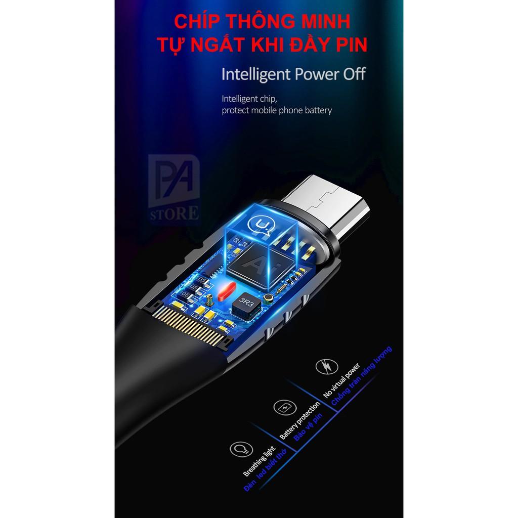Cáp Sạc Tự Ngắt Khi Pin Đầy - Đầu Android Micro QC 3.0 - USAMS - Siêu PhẩmThế Hệ Mới