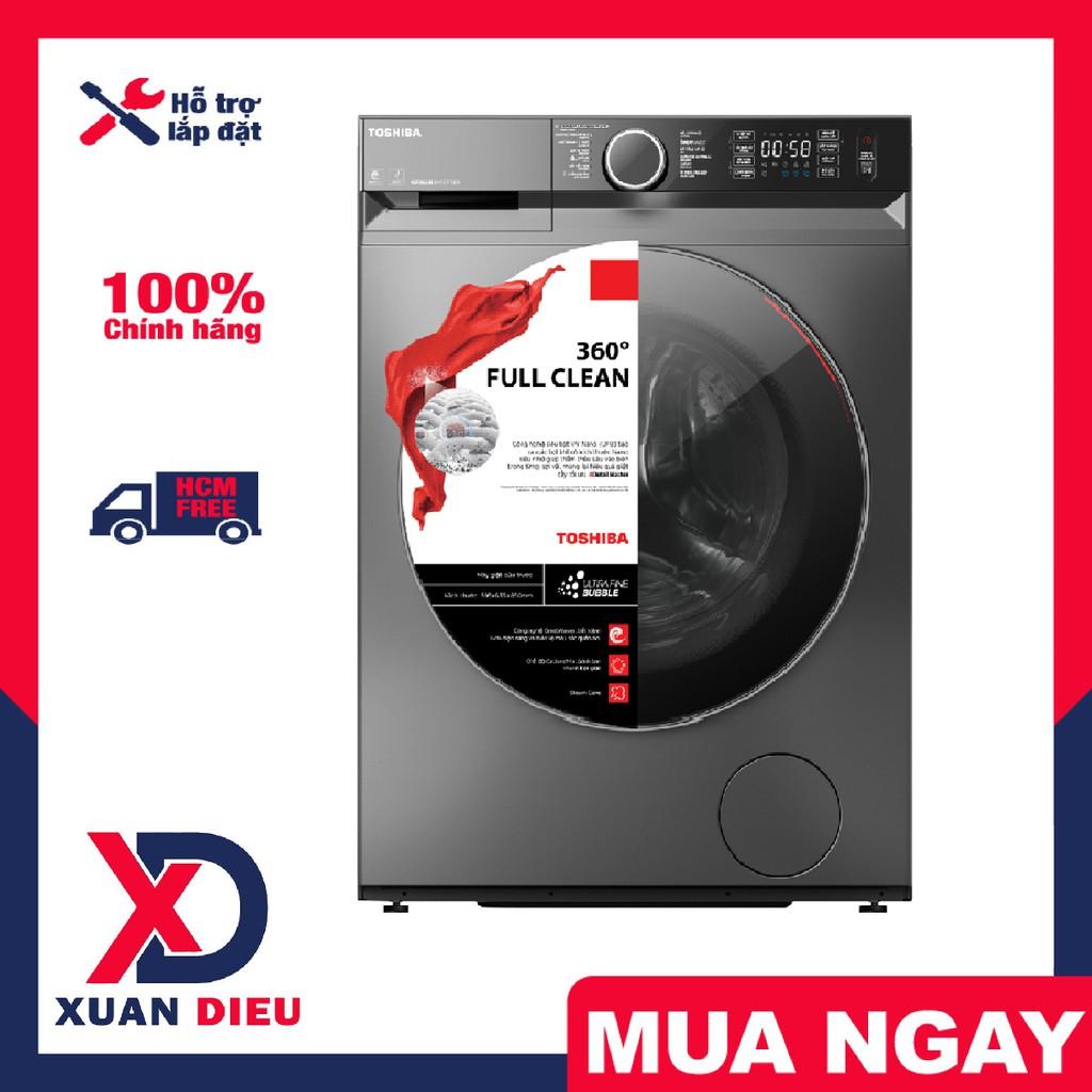 Máy Giặt TOSHIBA 9.5Kg TW-BK105G4V (SS) Công suất 2000W, Thêm đồ giặt, giao hàng trong TP HCM