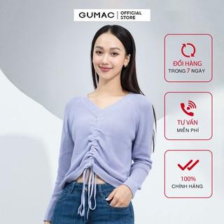 [Mã WABR44H giảm 15% đơn 599K] Áo len nữ rút dây GUMAC đủ màu, đủ size, phong cách street style AA9214 thumbnail