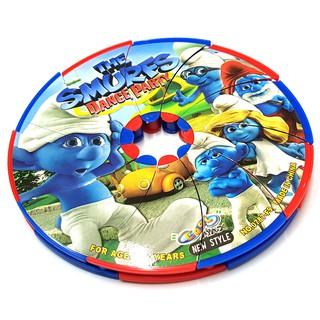 Đồ chơi đĩa ném bằng nhựa hình Xì trum đẹp cho bé thumbnail