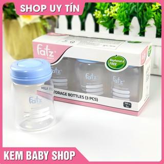 [Chính Hãng] Bộ 3 bình trữ sữa 150ml Fatz Baby – Bình đựng sữa FatzBaby FB0120N