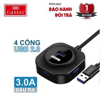[Mã ELFLASH5 giảm 20K đơn 50K] Hub Earldom HUB-06 Tốc Độ Cao Bộ Chia USB Từ 1 Thành 4 Cổng