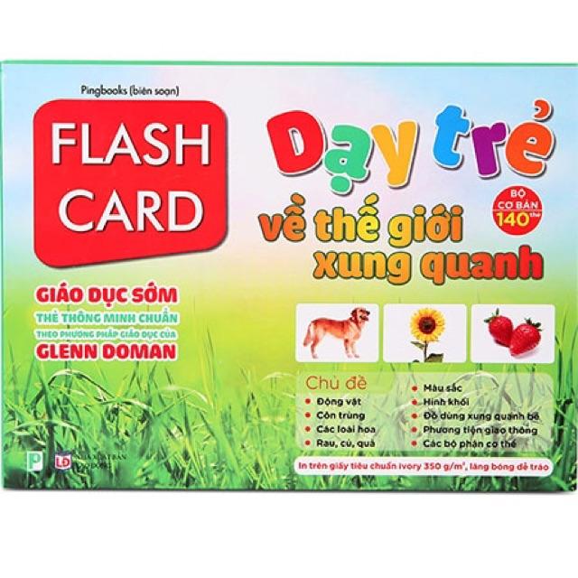 Flash Card Dạy trẻ về thế giới xung quanh (Chuẩn Glen Doman) (140 thẻ)