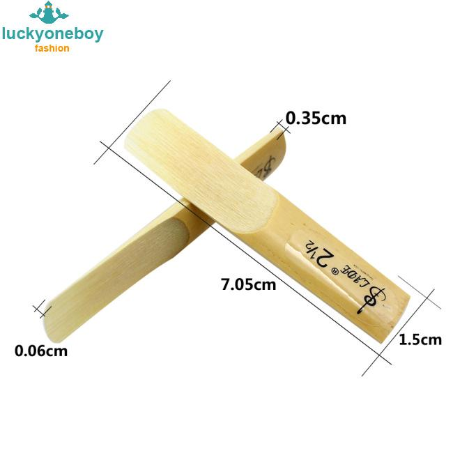 10 Pcs Alto bE Saxophone Reeds Bamboo 2-1/2 Sax Reed Strength 2.5 Musical Instrument Parts & Accessories