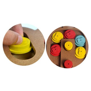 Natural Food Treated Wooden Educational Paw Puzzle Interactive Toy for Pets