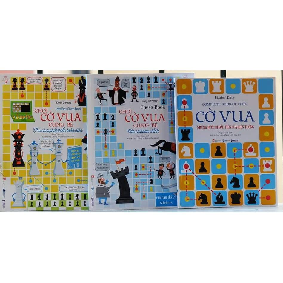 Sách - Chơi cờ vua cùng bé (Bộ 3 cuốn)