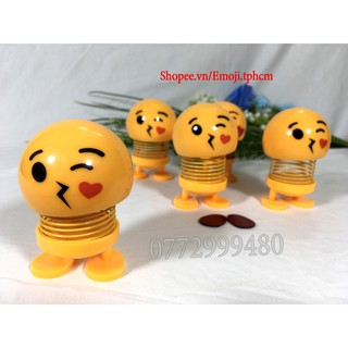 [ẢNH THẬT+VIDEO] Emoji lò xo mặt cười có chân dán EM06
