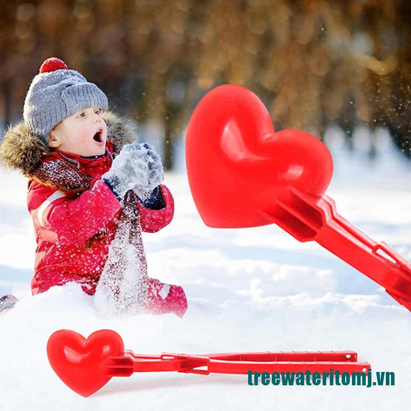 【new】Heart Shaped Snowball Maker Clip Winter Sand Ball Mold Clamp Kids Outdoor Toys