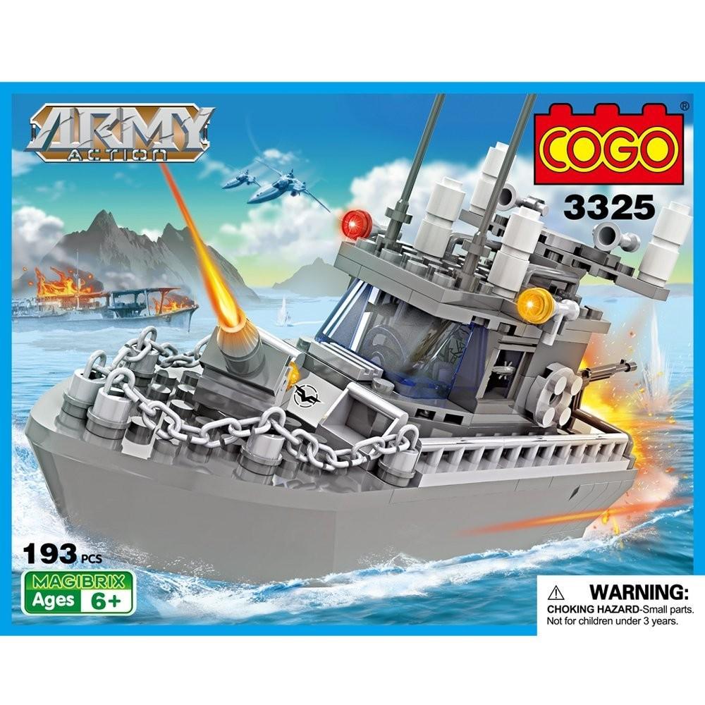 Đồ chơi xếp hình Lego Cogo tàu quân sự 3325.