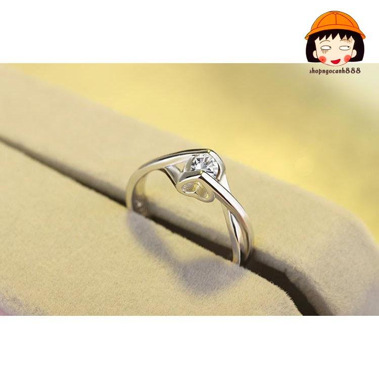 Nhẫn Nữ, Nhẫn Bạc 925 Đính Đá Tặng Nàng Siêu Lung Linh