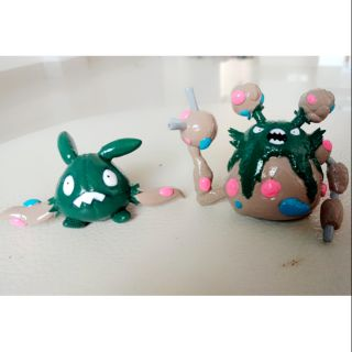 Mô hình pokemon trubbish và garbodor