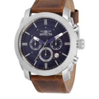 Đồng hồ nam dây da Invicta Aviator Chronograph Quartz Blue Dial Men's Watch 30811