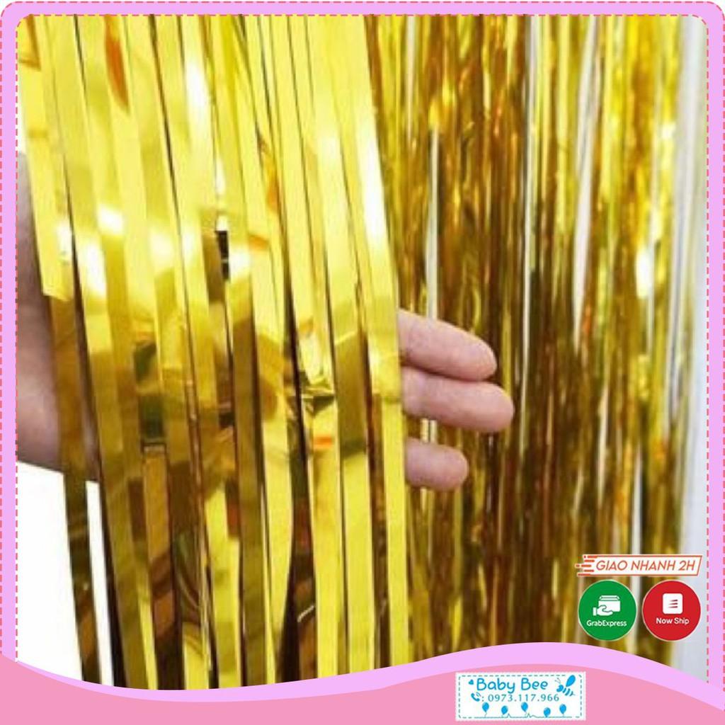 Rèm tua rua trang trí màu vàng/bạc/xanh/hồng (1x3m-1x2m)