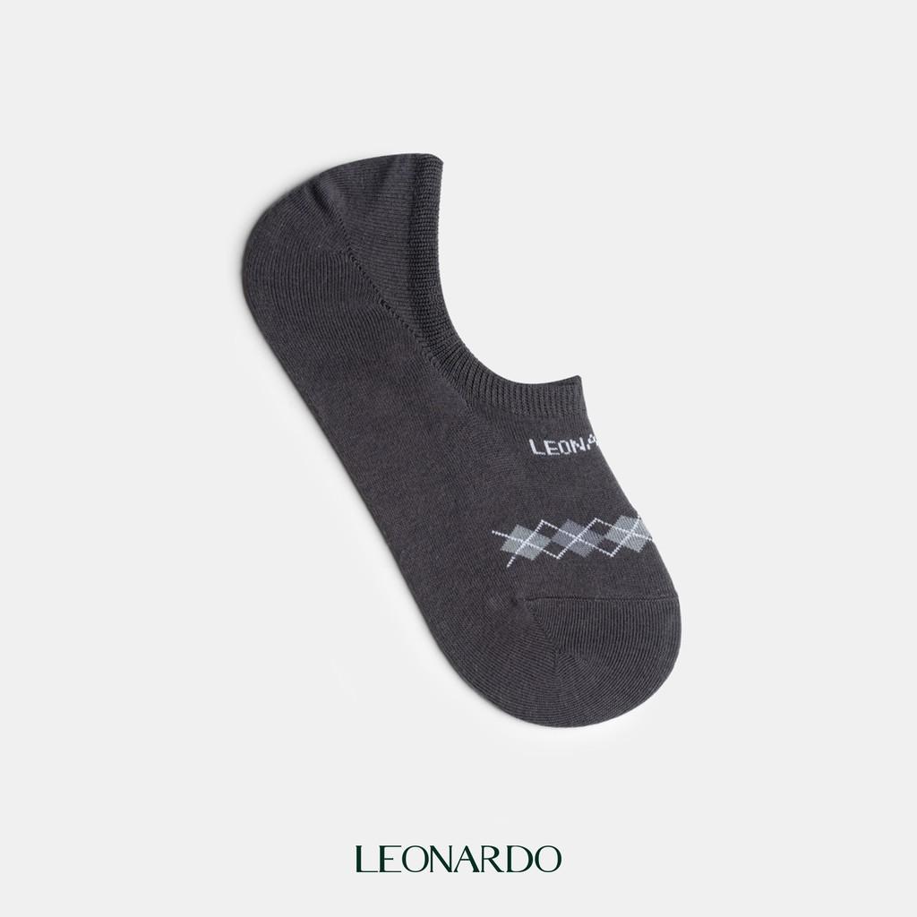 1 Đôi vớ nam ngắn cổ sợi cotton màu tùy chọn thương hiệu Leonardo