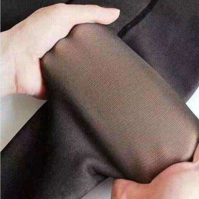 Quần tất 3D 6S lót lông nỉ giữ nhiệt siêu dày đẹp, siêu ấm (có video thật)