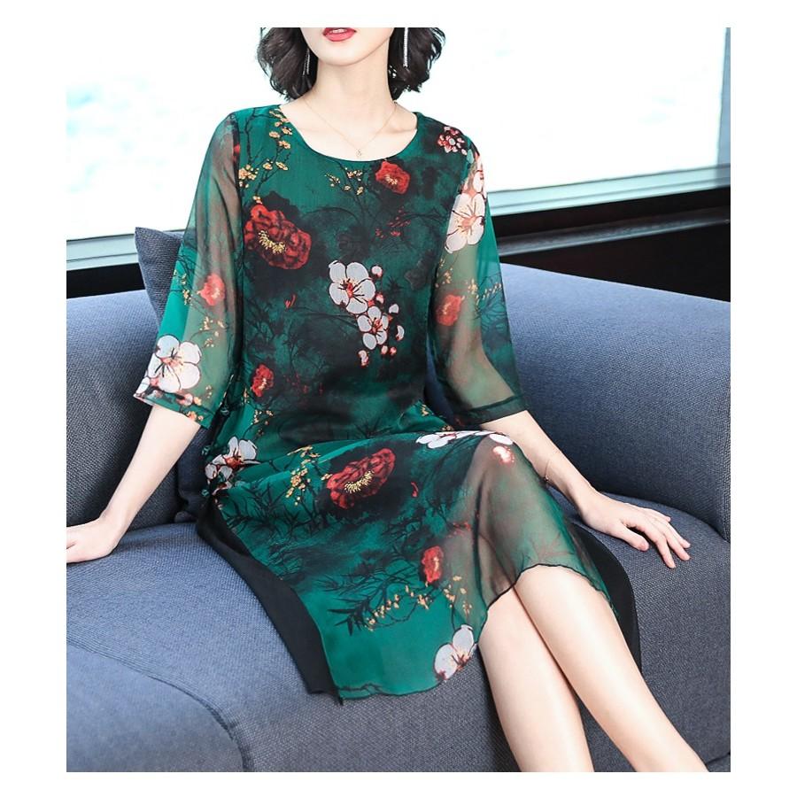 2398060649 - Váy đầm trung niên thanh lịch, nhẹ nhàng, sang trọng