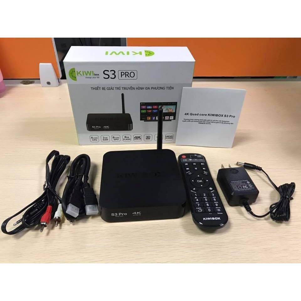 Android Tivi Box Kiwibox S3 Pro Ram 2G- Rom 8G bảo hành 12 tháng chính hãng