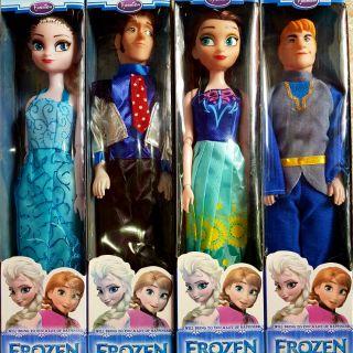Hộp 4 búp bê hoàng tử và công chúa tuyết
