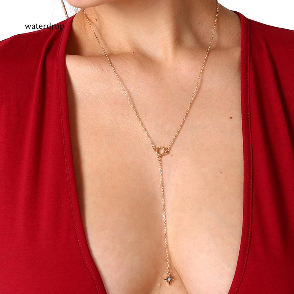 XL-Fashion Rhinestone Pendant Chain Necklace Women Jewelry Gift Cocktail Party