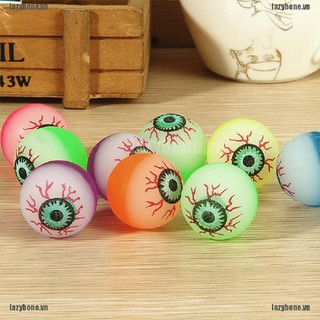 {lazy} 10 Pcs 32mm Funny Eyeball Candy Colors High Bounce Ball for Toy Machine{bone}
