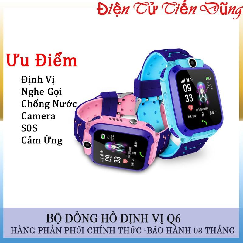 Đồng hồ thông minh định vị Q6 chống nước nghe gọi sos camera với cảm ứng- Mẫu đồng hồ trẻ em Q6 và Q12 đều là như nhau