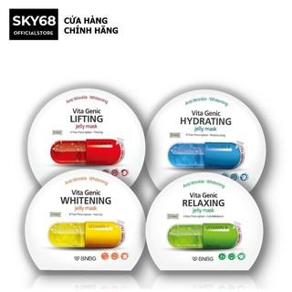 Combo Mix 10 Mặt nạ giấy BNBG Vita Genic Jelly Mask 30ml x10 (Lifting, Whitening, Relaxing, Hydrating)