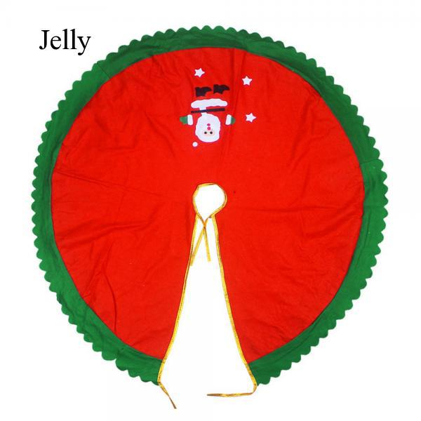Large Christmas Xmas Tree Skirt Decorations Santa Pattern 90cm Random J627