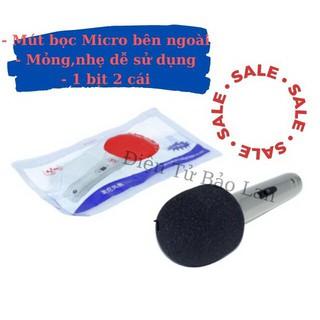 ( 2 cái ) Bông Lọc Gió Micro, Mút Lọc Âm Micro, Mút Lọc Gió Micro, Dùng Bên Ngoài
