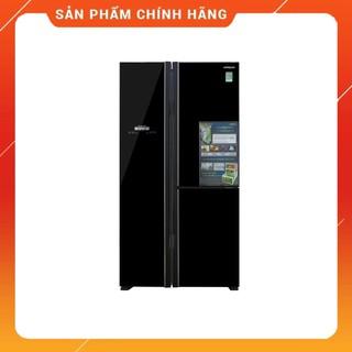 [ FREE SHIP KHU VỰC HÀ NỘI ] Tủ lạnh Hitachi side by side 3 cửa màu đen R-FM800PGV2(GBK)